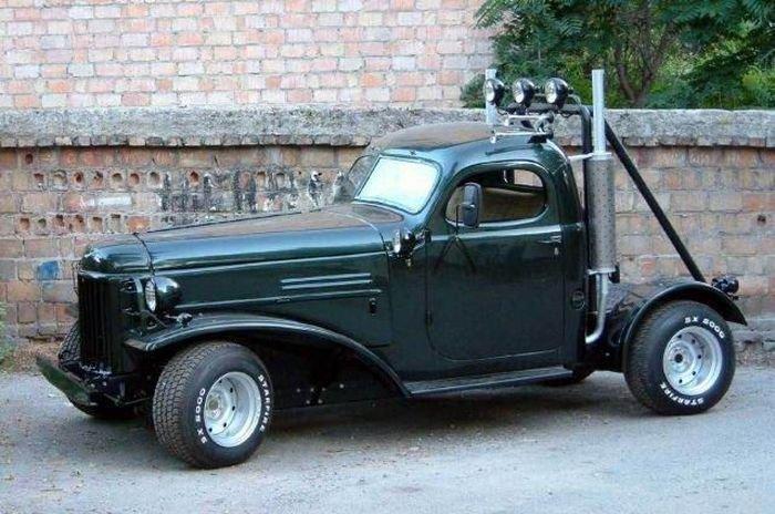 "Hot-rod ""Mad Cabin"" с кабиной от армейского грузовика ЗиЛ 157Mad Cabin "" PazitiFF - прикольное инфо!"