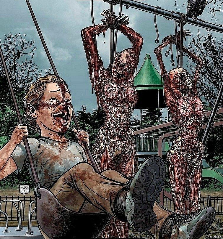 Годный комикс. про фанатиков, зомби, инцест, каннибализм и прочую