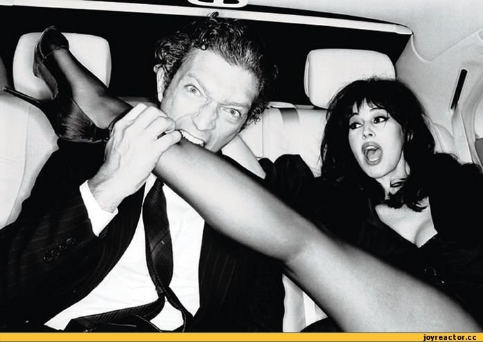 Vincent Cassel & Monica Bellucci photographed by Ellen von Unwerth.