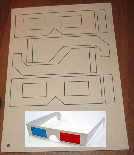 Как сделать очки из бумаги и картона