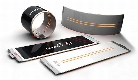 Гибкий смартфон-браслет от Philips