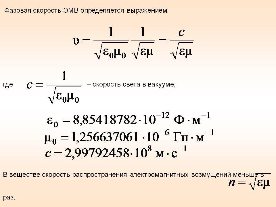 Почему скорость электромагнитных волн равна скорости света