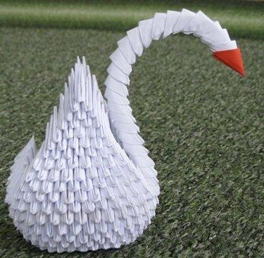 Модульный лебедь из бумаги своими руками - Оригами