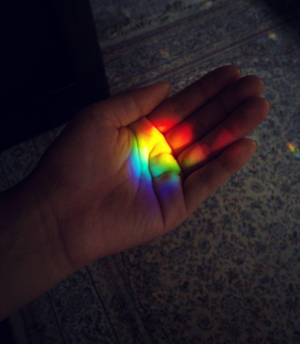 Искусственная радуга как сделать