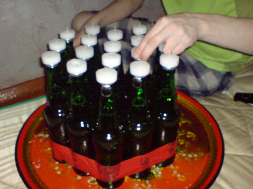 Как сделать торт из пива в бутылках