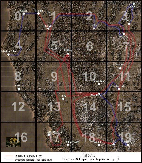 Title World Map Caption Fallout 2 Screenshot Category Screenshots