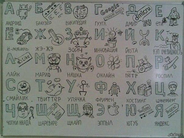 Алфавит отношений для любимого своими руками