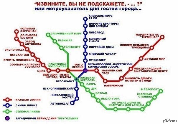 Карта метрополитена для