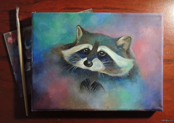 Енот Мой первый опыт рисования