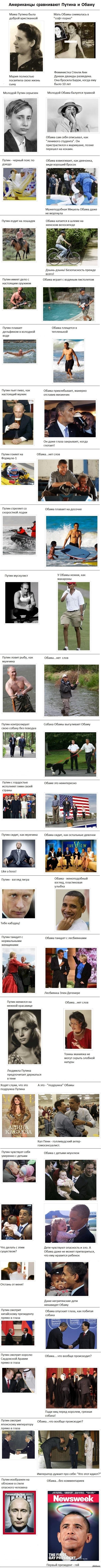 ���������� ���������� ������ � ����� ����� ����������. ������� �� ���. �������� ����� http://www.tomatobubble.com/putin_obama.html