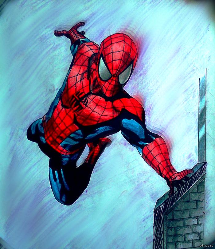 Нарисовал своего любимого супергероя