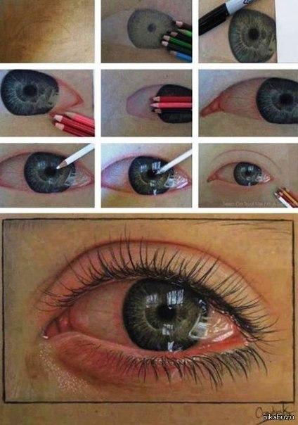 умение рисовать глаза не