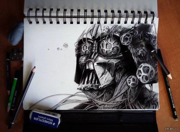 удивительные рисунки карандашом: