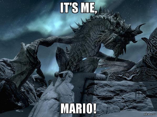 Немного интересностей Дракона Paarthurnax'а, персонажа The Elder Scrolls: Skyrim, озвучивал Чарльз Мартинет - официальный голос всех инкарнаций Супер Марио.