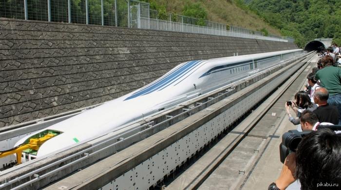 Начались испытания сверхскоростного поезда на магнитной подушке L0