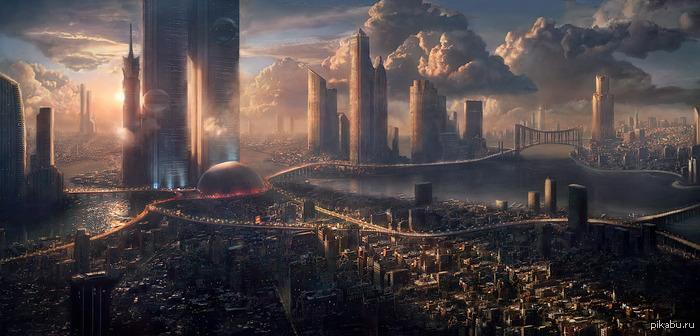 город будущего рисунки: