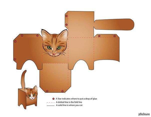 Кошки из бумаги своими руками