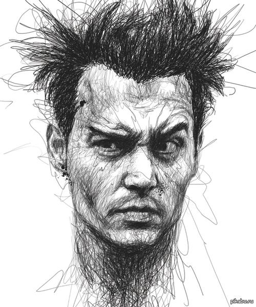 рисунки лица карандашом: