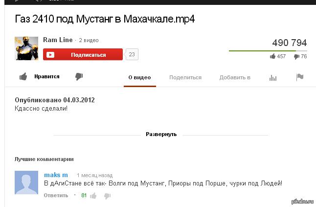 ютуб комментарии кадырова