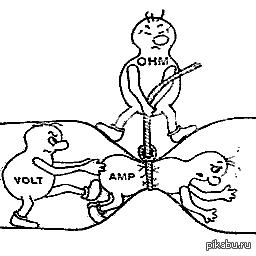 Ток, напряжение и сопротивление - наглядно и понятно. Для тех кто плохо разбирается что такое ток, напряжение и сопротивление <img src=