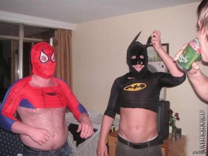 человек паук и бэтмен