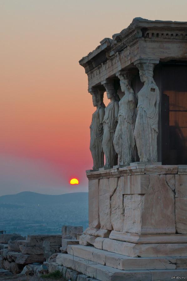 Закат в Афинах...
