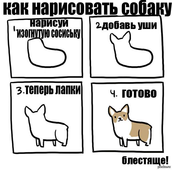 Как научиться ребёнку рисовать собаку