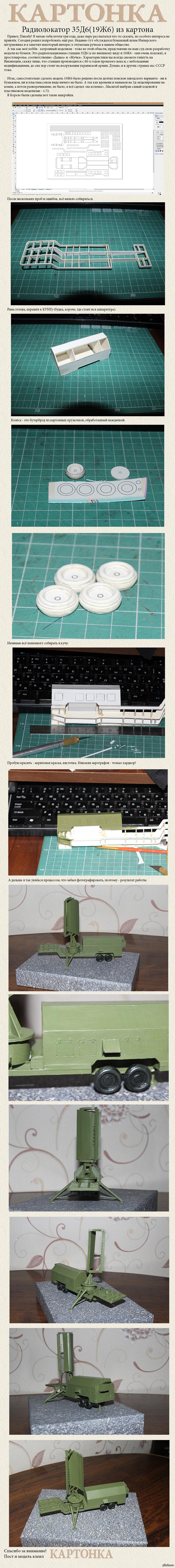 Картонная модель РЛС 19Ж6\35Д6