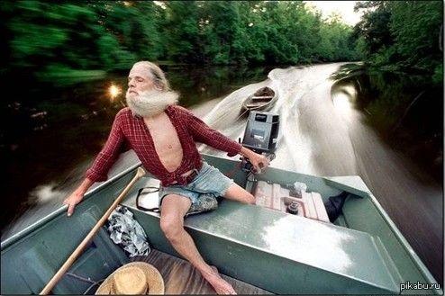 фото мазая на лодке
