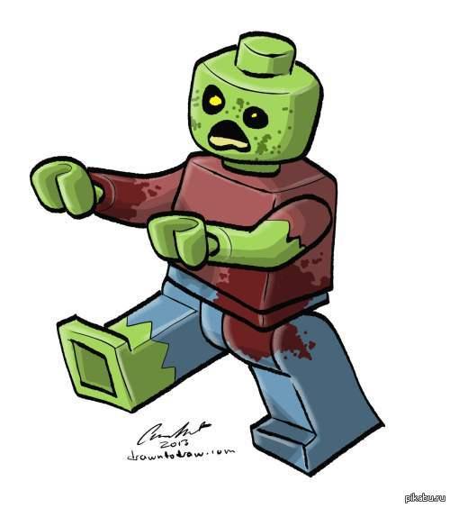 Лего зомби. автор на картинке