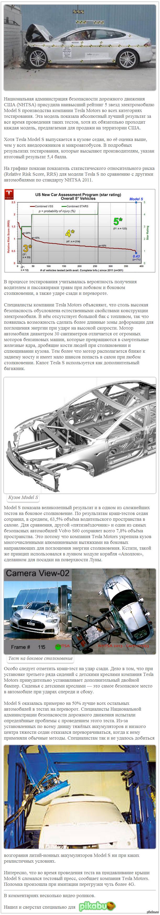 Электромобиль Tesla S сломал оборудование для проведения краш-тестов (с хабра. Несколько видео в комментах)
