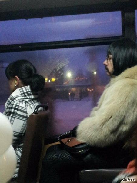 Колготки в автобусе