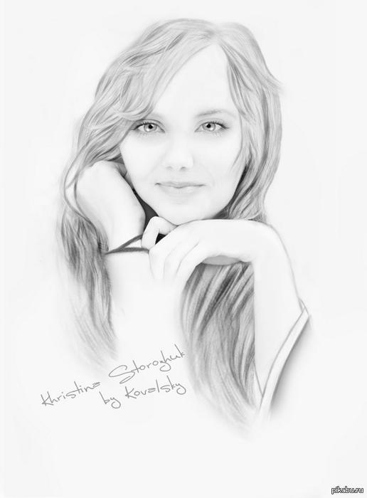 как рисовать портрет девушки: