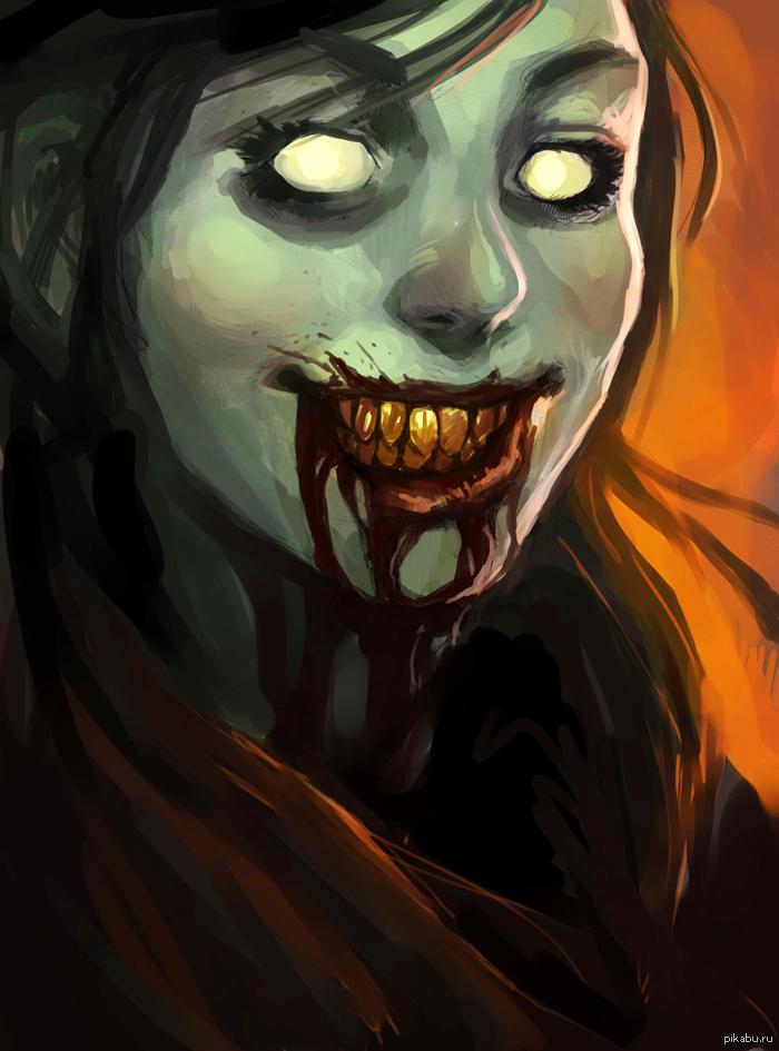 Зомби-девушка. Чей-то арт.