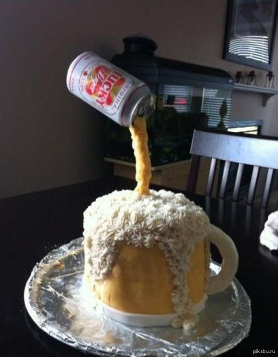 Торт из пива в банках фото своими руками