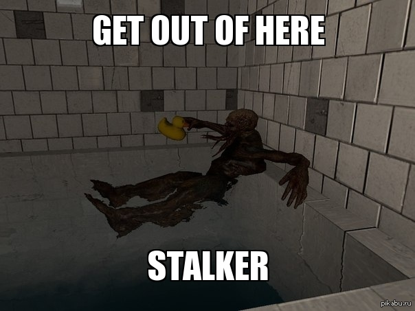 GET OUT OF HERE STALKER