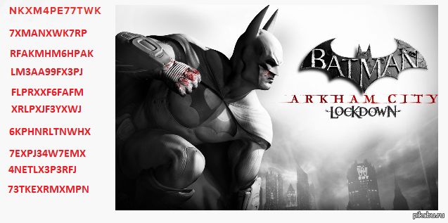 Ключи для Batman Arkham City Lockdown (iOS) Ключи, бетмен, IOS, Игры.
