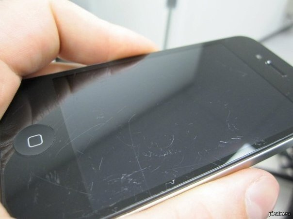 Как избавится от царапины на экране телефона