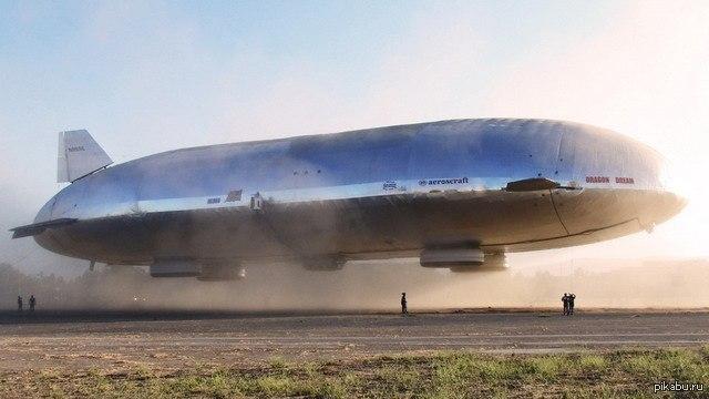 Воздушный транспорт будущего наконец-то оторвался от земли Описание в комментариях.  дирижабль, техника, будущее