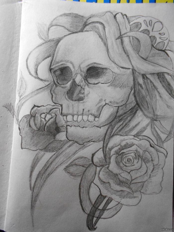 срисовать рисунок карандашом: