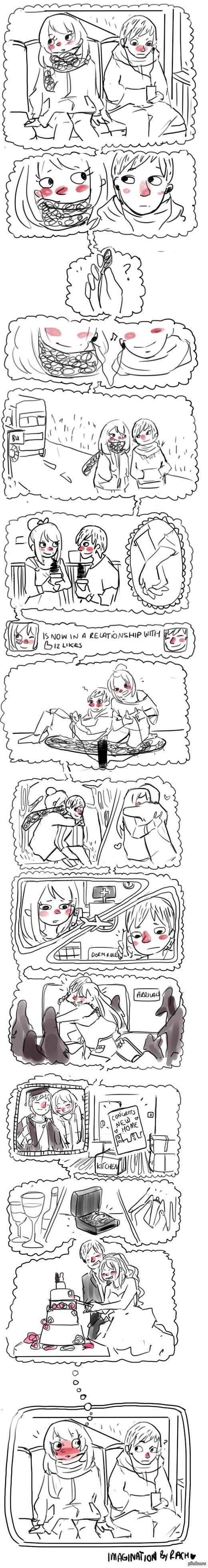 знакомство   комиксы, отношения, длиннопост