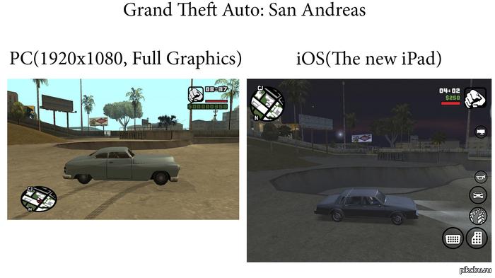 Grand Theft Auto: San Andreas на iOS