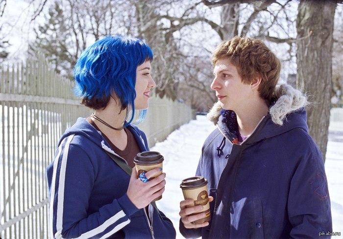 Синие волосы скотт пилигрим девушки