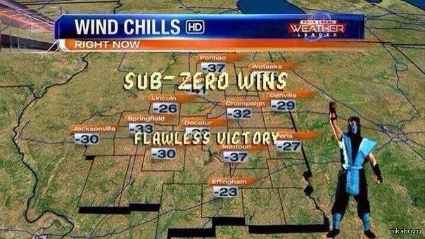 аномальное похолодание: