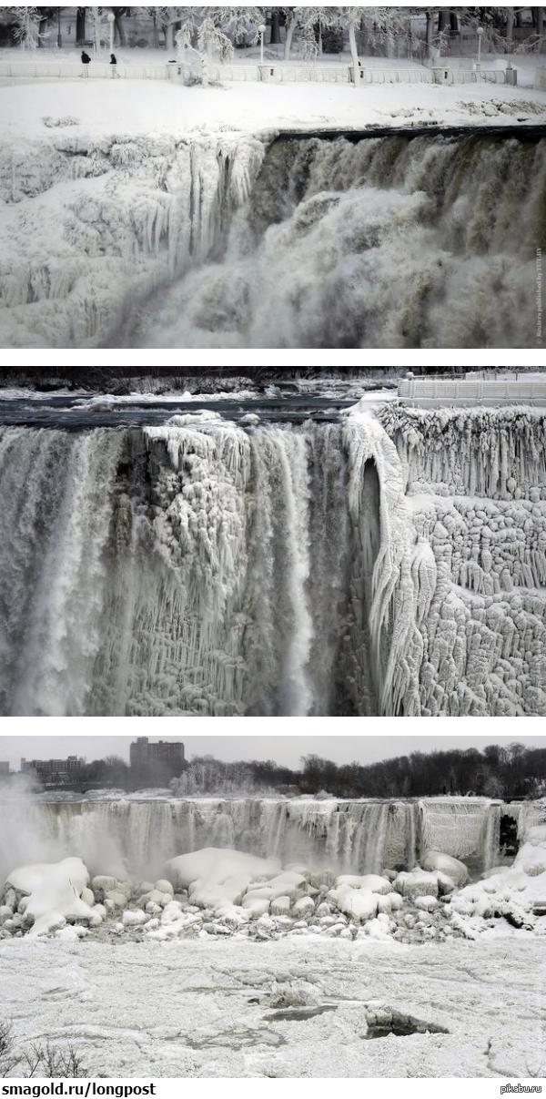 Ниагарский водопад превратился в