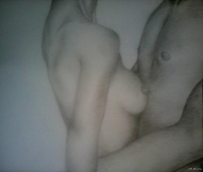 рисунки карандашом голых: