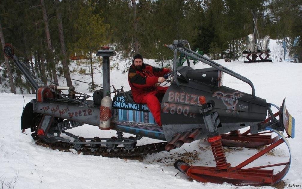 Самоделки снегоходы своими руками фото