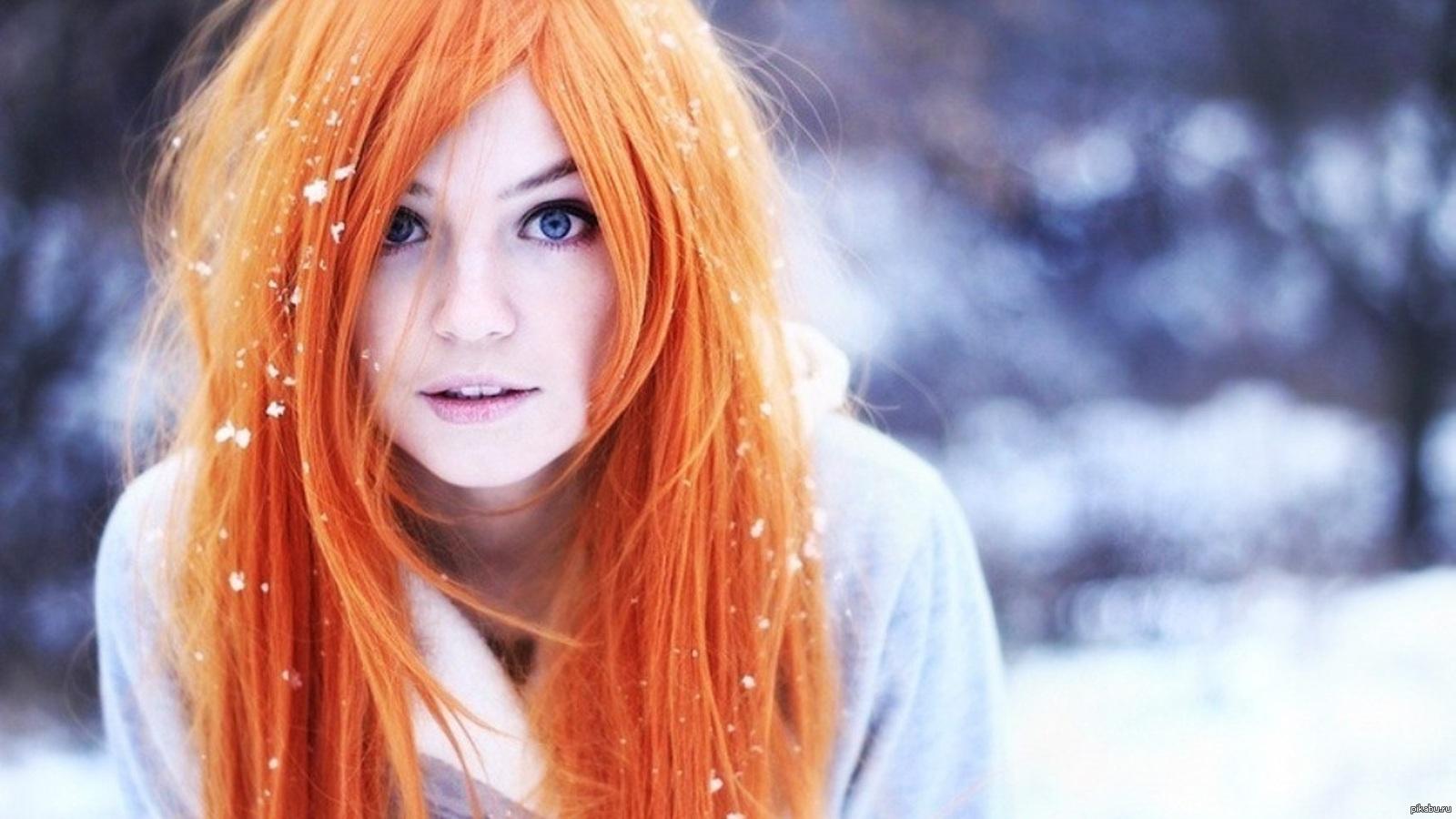 Черно белые картинки девушек с рыжими волосами 17 фотография
