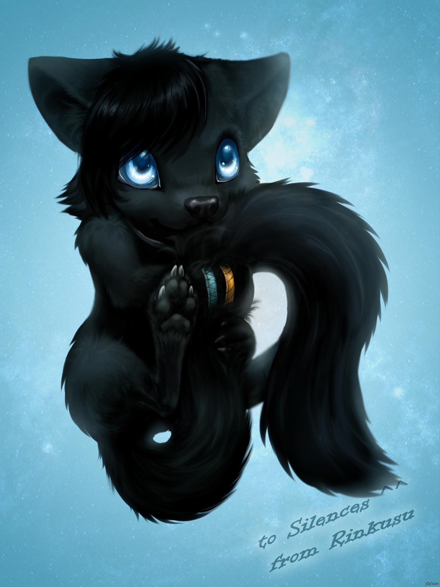 Чёрная фурри волчица 18 фотография