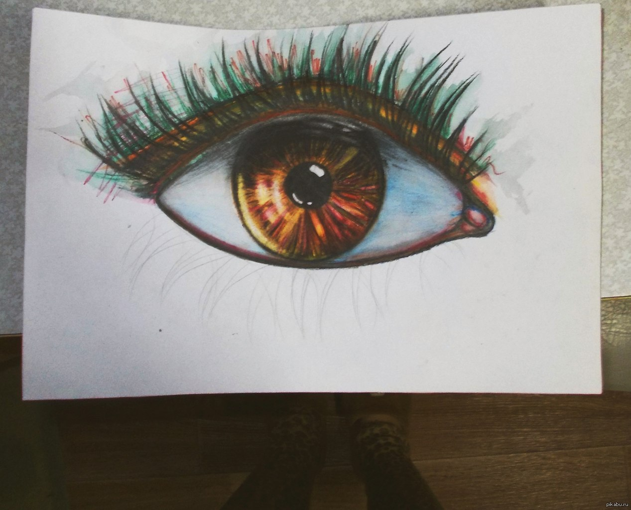рисунок глаза карандашом: